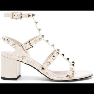 Valentino Rockstud Block Heel Cage Sandals